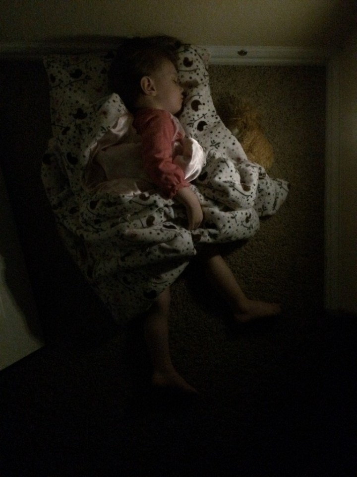 This is where Eliza started wanting to sleep this week.