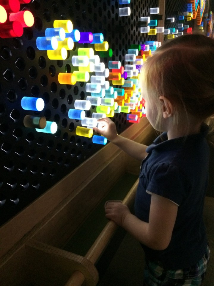 Eliza loved the color wall