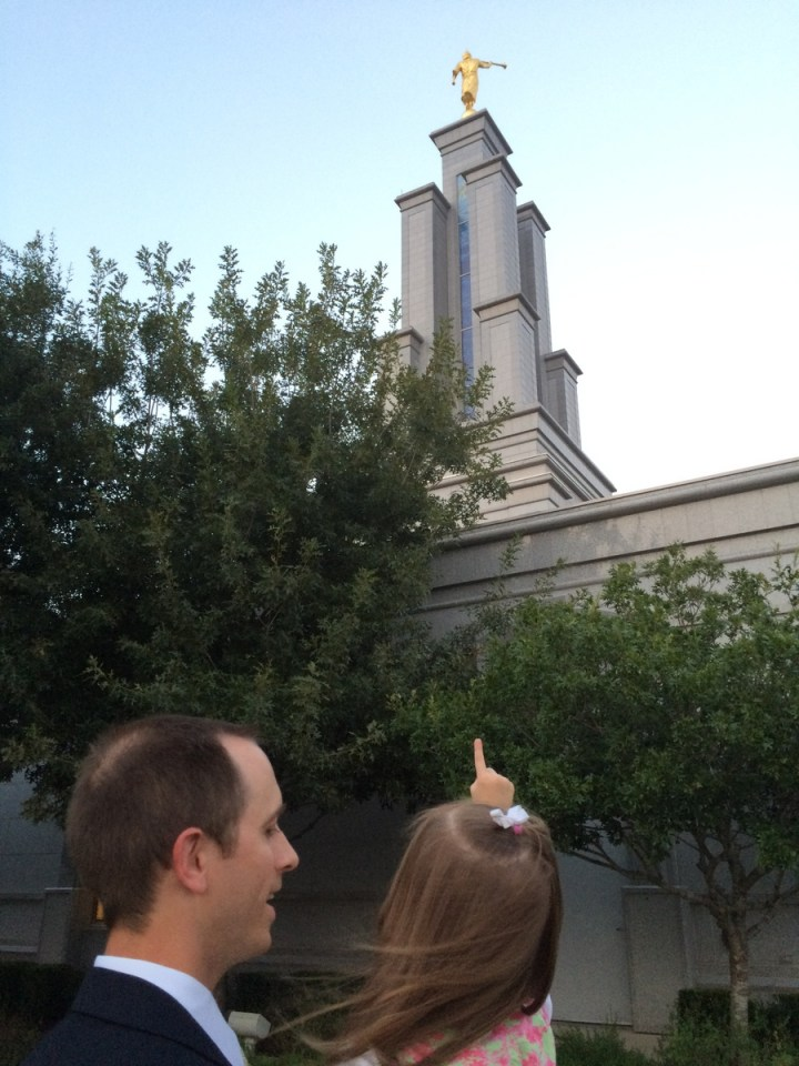 """There's the angel Moroni!"""