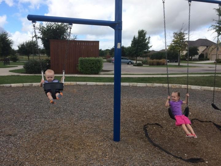 Eliza loves the park!