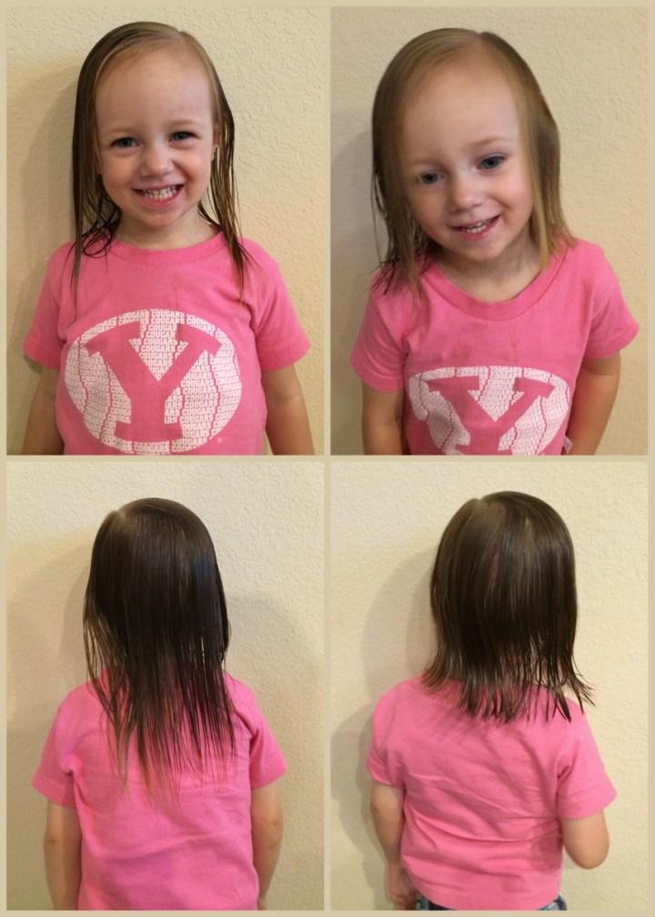 11 eliza's first haircut
