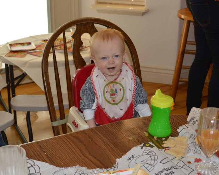 James loved all the food! He also loved the table cloth.