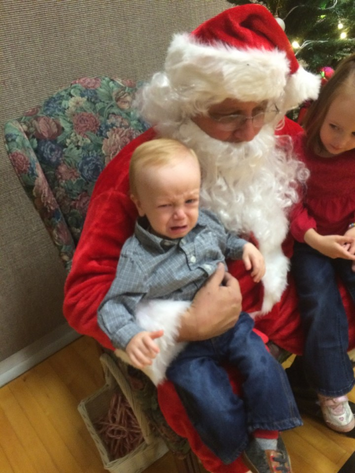 James was less than thrilled about Santa