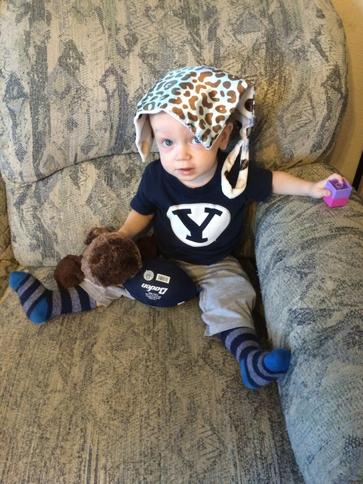 James is all ready for some BYU football!