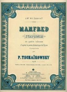First edition of Tchaikovsky's symphony 'Manfred'