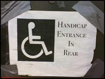 Handicap entrance in rear.