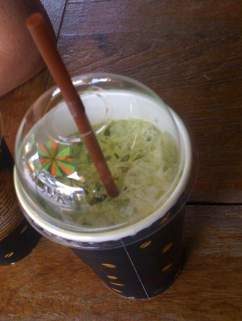 iced green tea, weekend market