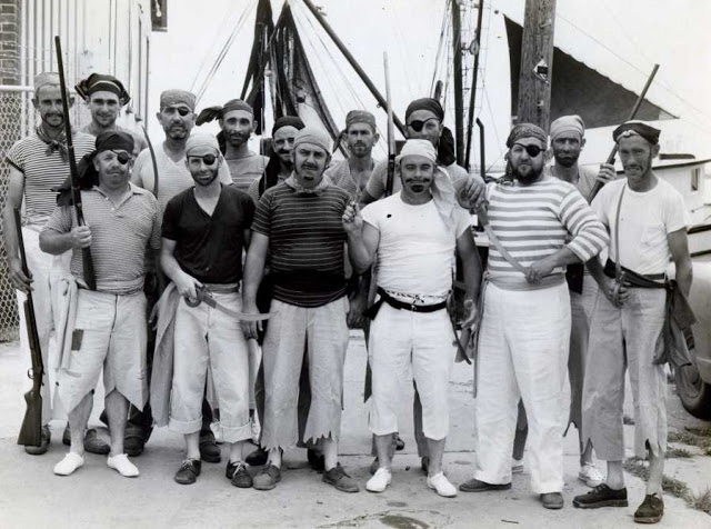 The original participants of the Beaufort Pirate Invasion in 1960