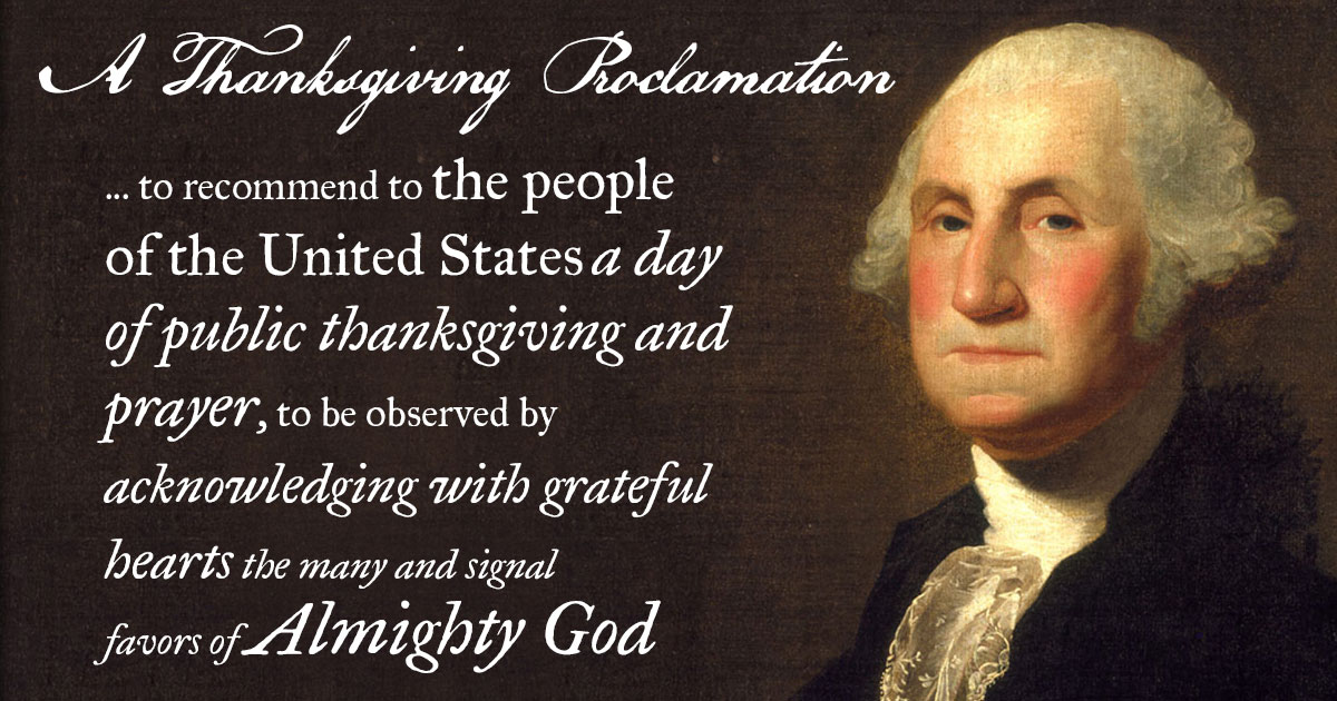Image result for washington's thanksgiving proclamation
