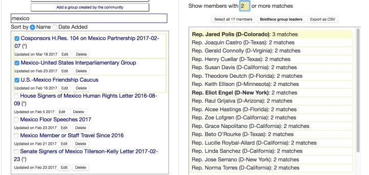 Screenshot from narrowdown.org