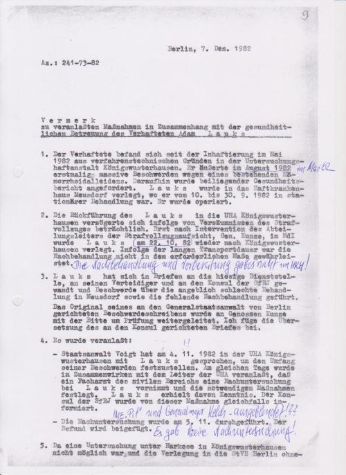 """Die """"lückenlose medizinische Behandlung"""" gehörte zum Maßnahmeplan zu Liquidierung von Objekt """"Merkur"""" - WER hat den Maßnahmeplan erarbeitet, wer seine Realisierung befehligt !? War das  Wolf? War ews  der Operative Neiber oder 1. Stellvertreter Mielkes  Rudi Mittig, zum  Schluss dann Generaloberst Großmann !?"""
