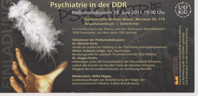 Dr.Jörgen Fuchs -Mitglied der Kontrollkommission zur Auflösung des MfS