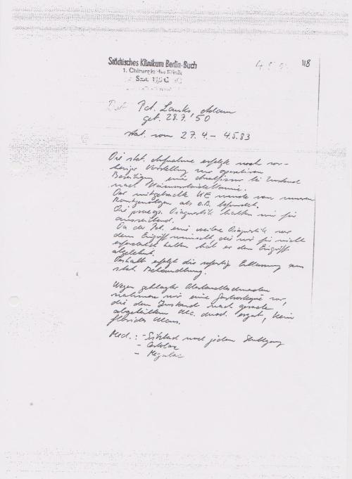 Ihre Aufnahme sollte das Datum vom 27.4.1983 - am 4.5.83 ist die ein IM Bericht !?