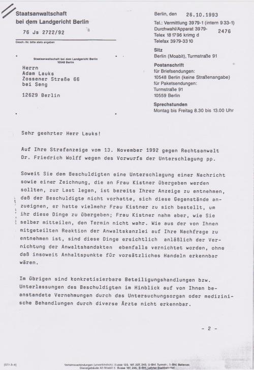 Wioe kann man einen RA und dazu Dr. und dann noch Friedrich Wolff anzeigen