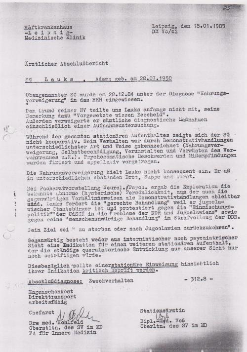 Fachärztliche Stellungnahme des MR Dr.Med. Rogge - IM GEORG HUDFELDT