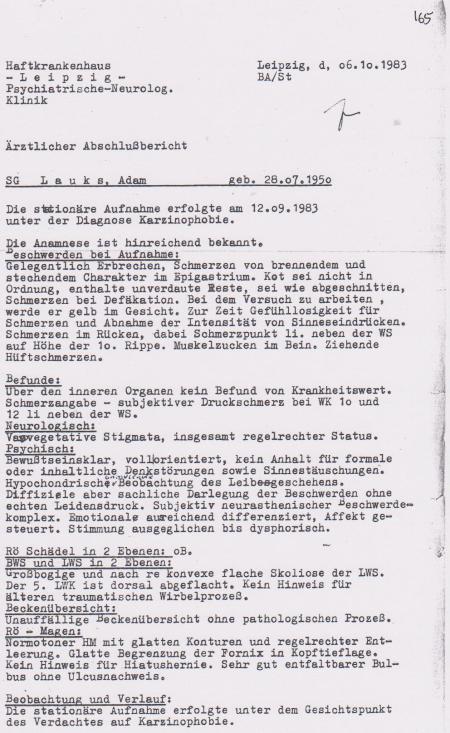 Kopie Nr. 165 und 166 - IM Nagel - MfS hat die Befehlsgewalt