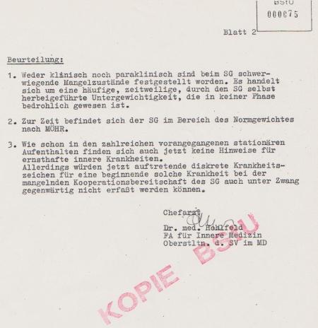 Oberstleutnant Dr. med. Hohlfeld  FA für Innere Medizin liefert...