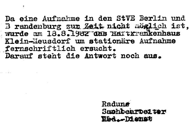 Zersetzung von Adam Lauks 1982.08.23.1