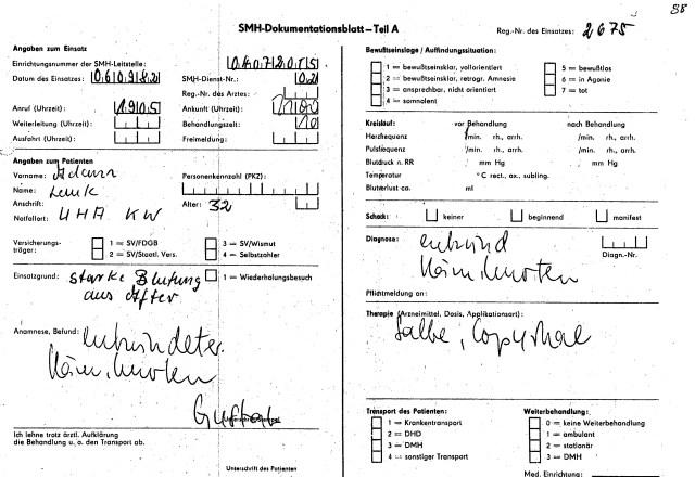 Zersetzung von Adam Lauks 1982.09.06.1