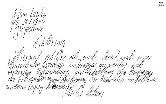 Zersetzung von Adam Lauks 1982.09.06.2