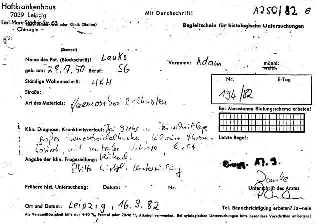 Zersetzung von Adam Lauks 1982.09.10.4