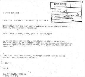 Zersetzung von Adam Lauks 1982.10.21.