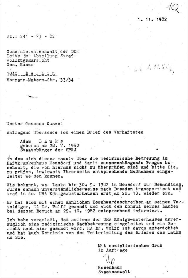 Zersetzung von Adam Lauks 1982.11.01