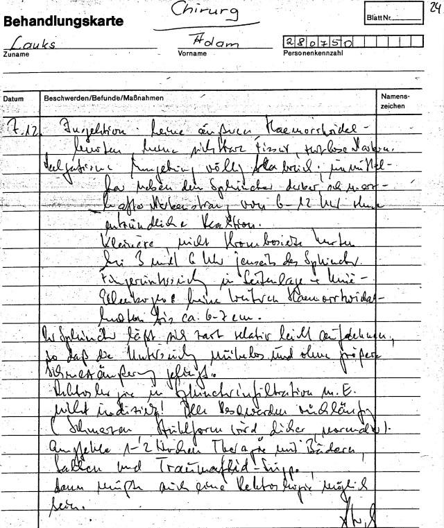 Zersetzung von Adam Lauks 1982.12.07.2
