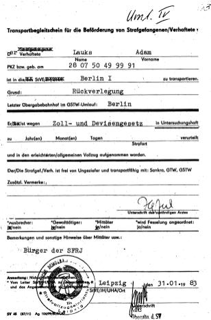Zersetzung von Adam Lauks 1983.01.31.