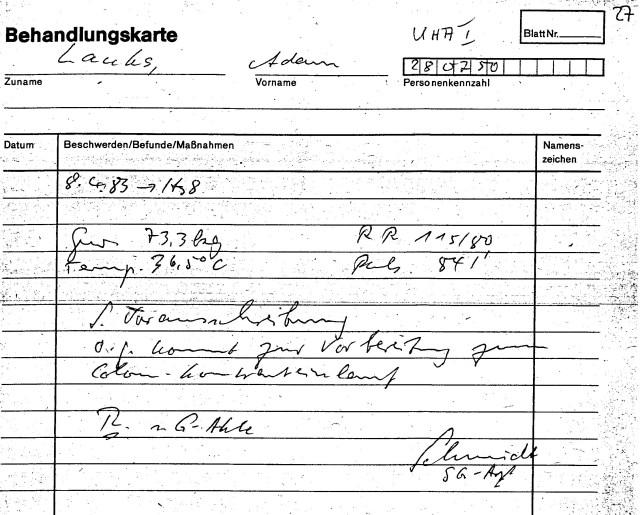 Zersetzung von Adam Lauks 1983.04.08.