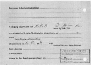 Zersetzung von Adam Lauks 1983.04.11.2