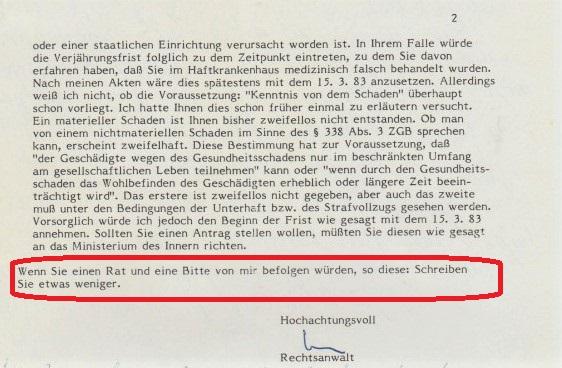 Zersetzung von Adam Lauks 1983.06.23.4