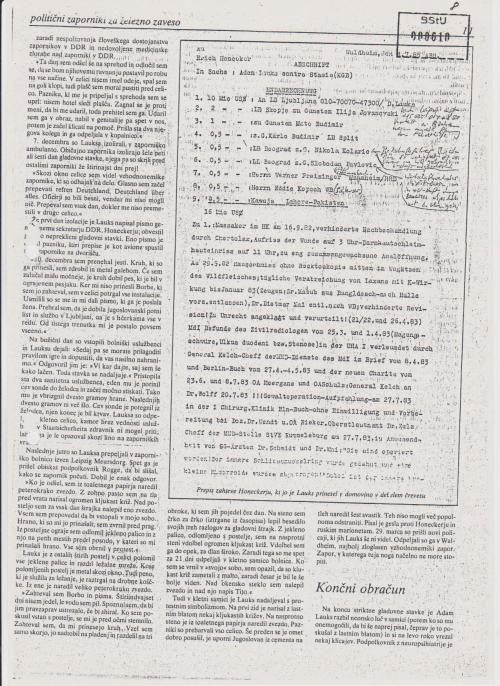 Abschriftder Endabrechnung  geschrieben an Honecker  am 4.7.1985 im blauen Umschlag verklebt abgegeben. Abschrift im Darm