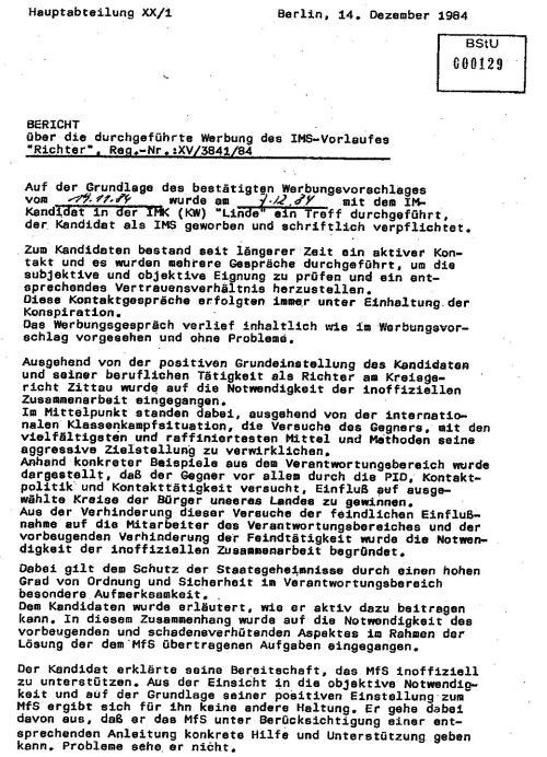 IMS ALTMANN - Bericht an MfS  vom 9.9.87 über Honeckers Besuch 005