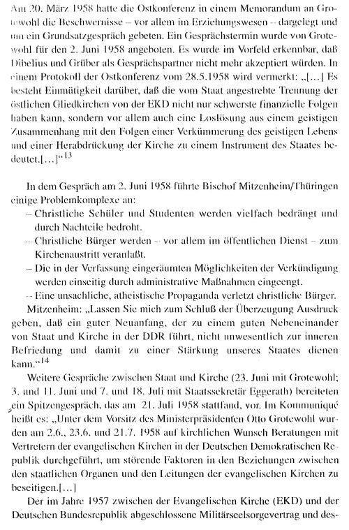 Vertretung der EKD bei der Regierung der DDR  kann nicht mehr anerkannt werden