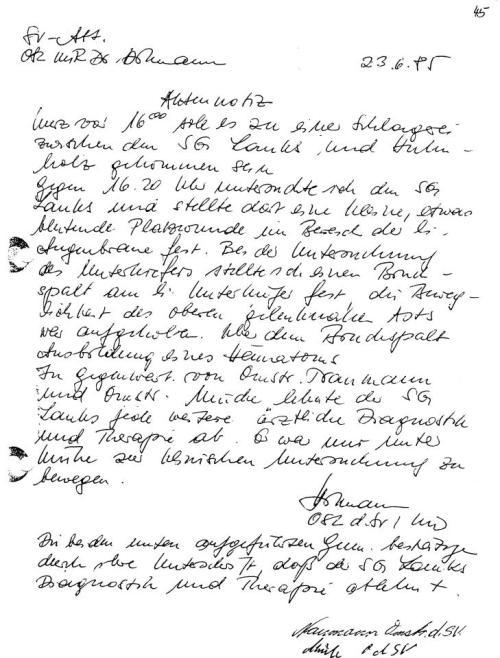 Ich wollte von Roland Jahn wissen ob Major Dr. Hillmann ein IM ARZT war?