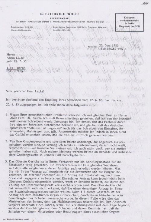 So wie der IM JURA die Höhe der Strafe kannte schon als die Anklageschrift kam im März, so musste er gewußt haben dass die Hinwendung zu irgendjemand wegen der Gesundheitsschäden mit denen ich jetzt seit 16.9.1982 herumlief...
