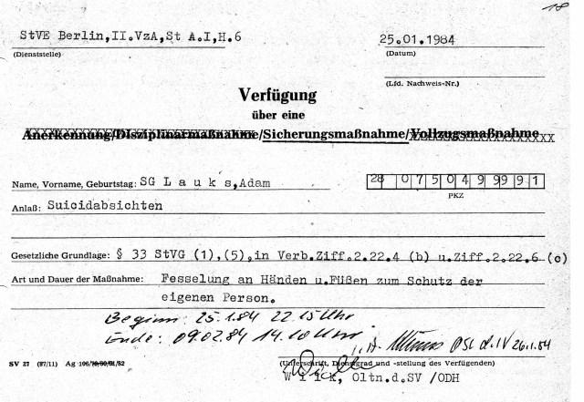 Warum protokolliert man Folterung in der DDR ?- Um Prämie oder Beförderung einzustreichen !