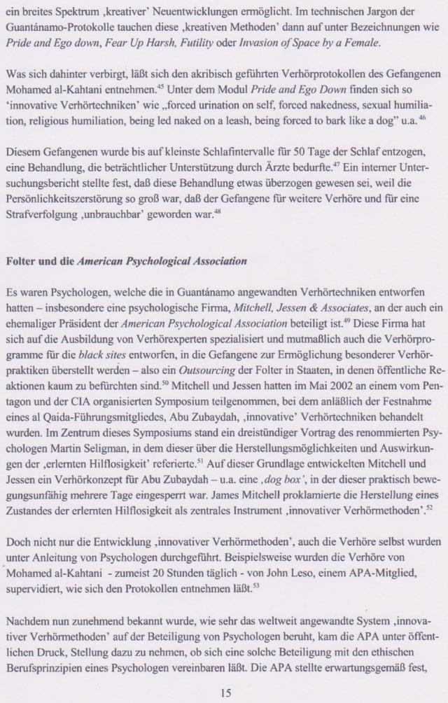 SAmerican Psychological Assotiation : Gruselkabinett  für Zerstörung der Menschen !??