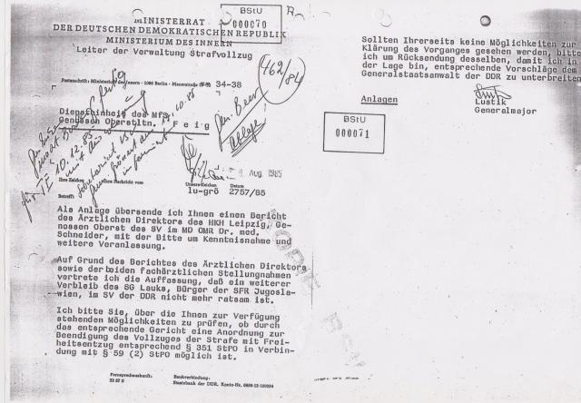 Weser Stadtgericht noch Oberstes Gericht, noch MdI-VSV, noch HVA VII hatten mein Schicksal inden Händen