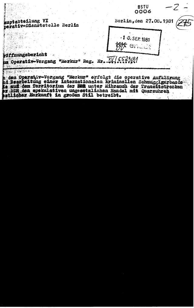 Sachstand 81.08.27 MERKUR 1(1)