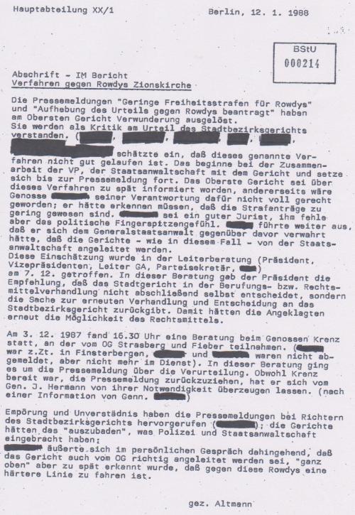 IMS ALTMANN - Bericht an MfS  vom 9.9.87 über Honeckers Besuch 002