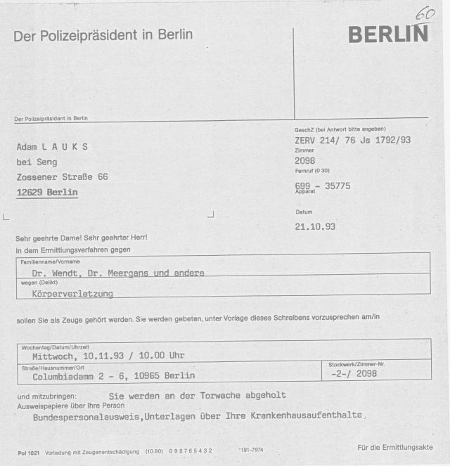 30 Js 1792 93 Ermittlungsverfahren der Staatsanwaltschaft II Bln 012