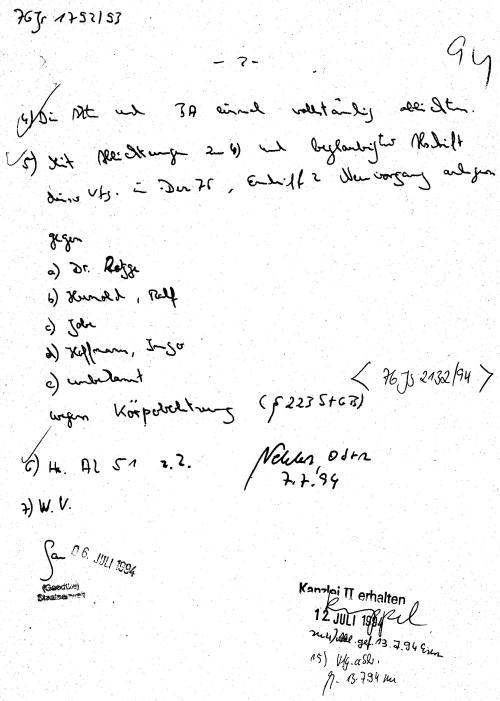 30 Js 1792 93 Ermittlungsverfahren der Staatsanwaltschaft II Bln 046