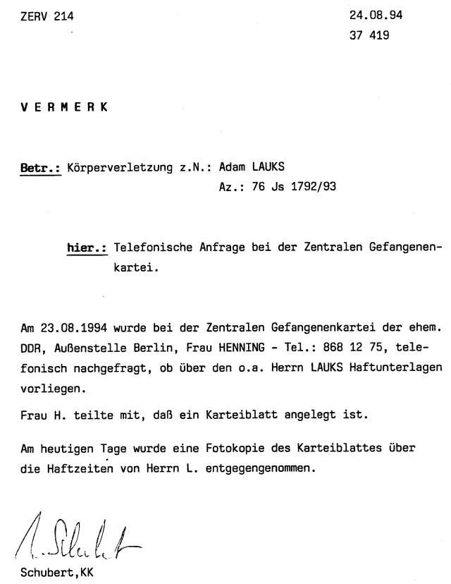 30 Js 1792 93 Ermittlungsverfahren der Staatsanwaltschaft II Bln 055