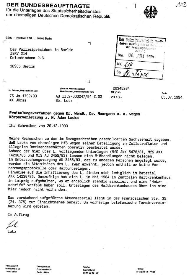 30 Js 1792 93 Ermittlungsverfahren der Staatsanwaltschaft II Bln 069