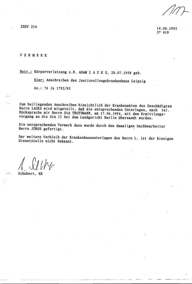 Ermittlungsverfahren 30 Js 1792 93