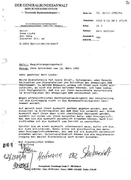 Ermittlungsverfahren auf Strafantrag wg. Folter 272 Js 2215 -11 035