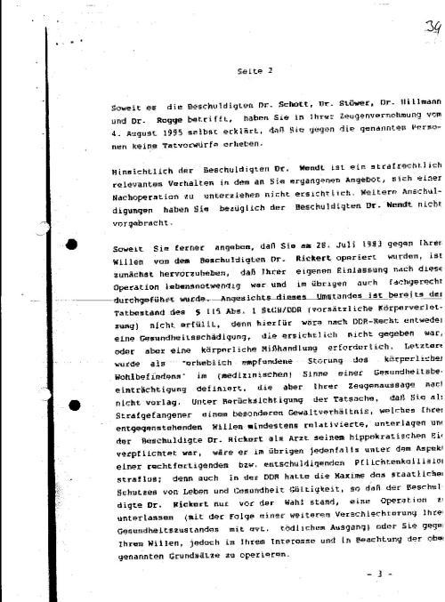 Ermittlungsverfahren auf Strafantrag wg. Folter 272 Js 2215 -11 039