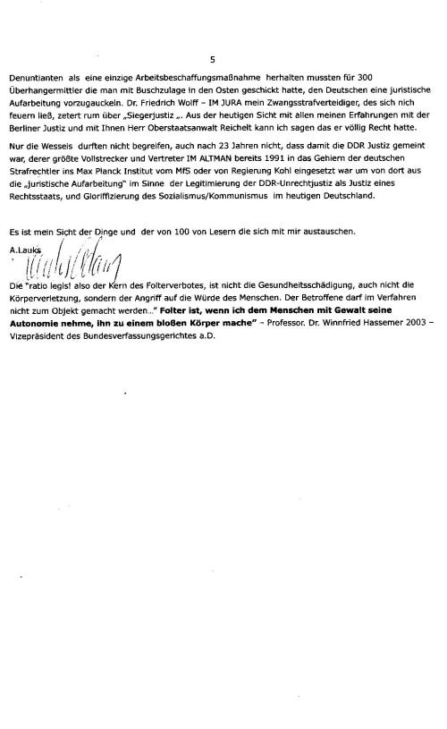 Verleumdet  bis in die Spitze der Berliner Justiz